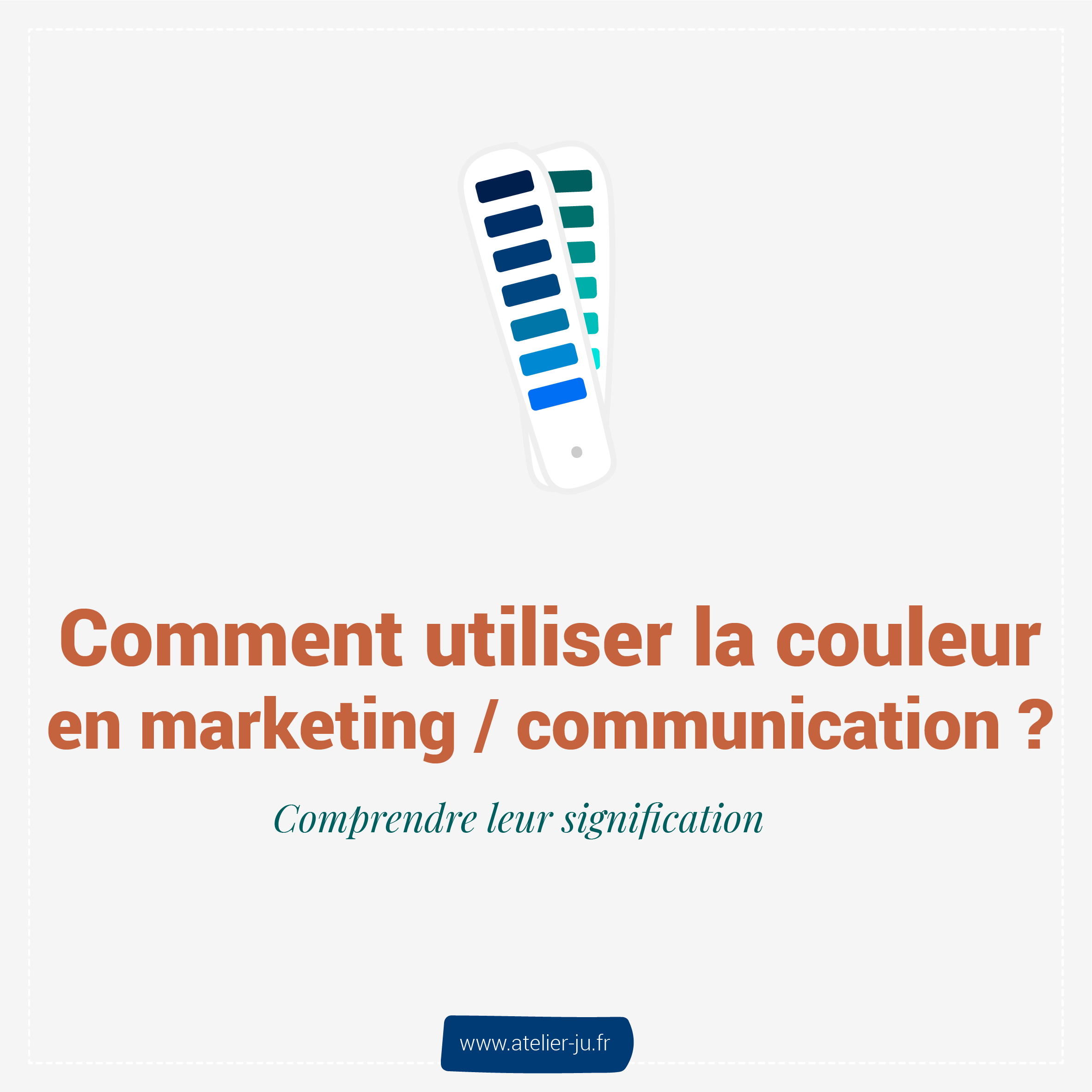 comment utiliser la couleur en marketing et communicaiton ?