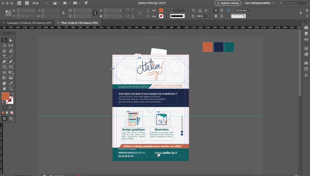 Mes logiciels de graphisme - indesign