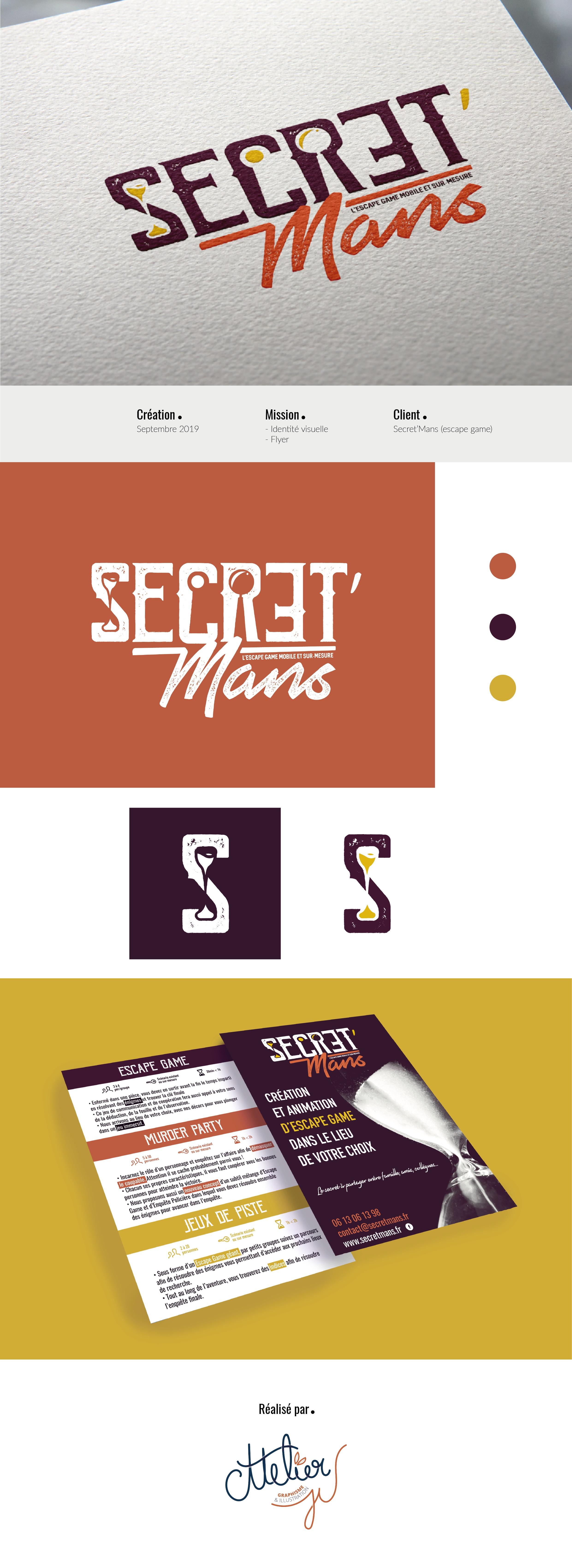 logo et flyer espace game secretmans